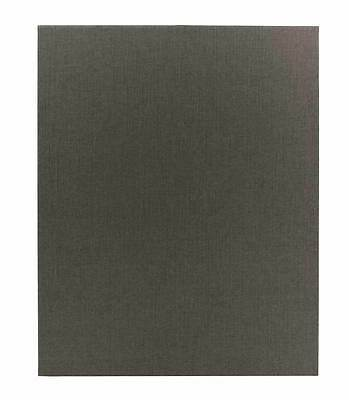 "(10pk) Poly-Cotton Wrapped Menu Cards, Gray, 1-panel, 8.5"" x 11"""