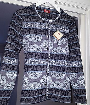 New  merino-silk knitted jacket by Oleana. Size S