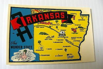 travel CAR DECAL sticker souvenir ARKANSAS USA  pin up Goldfarb novelty Impko