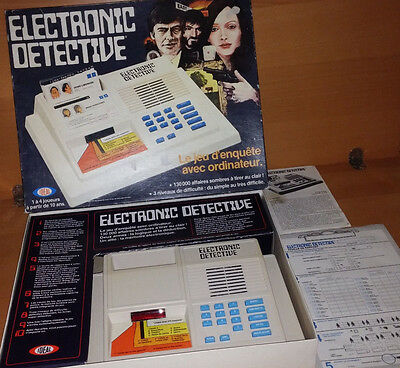 Jeu Electronic Detective Incomplet   /b1