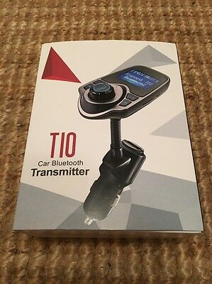 New Boxed T10 Car Bluetooth Transmitter