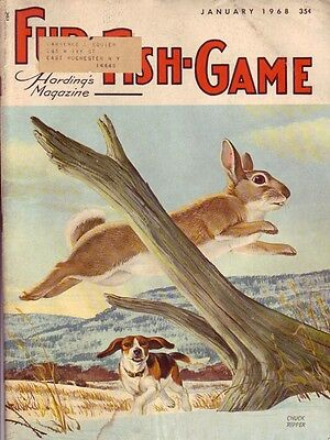 COMPLETE YEAR 1968 Jan-Dec FUR FISH GAME magazine trapping,furs,traps,woodcraft