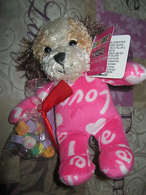 Galerie Valentine  Plush Pink Bears With Brach's Candy Conversation Hearts