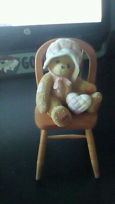 Cherished Teddies - Jenny - Girl in Chair with Pillow Figurine - 199877 - 2001
