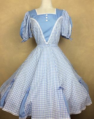 Square Dance Dress Partners Please Malco Modes  Blue White Gingham
