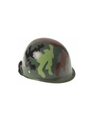 Child Plastic Army Soldier Military Costume Camouflage Camo Helmet Party Hat