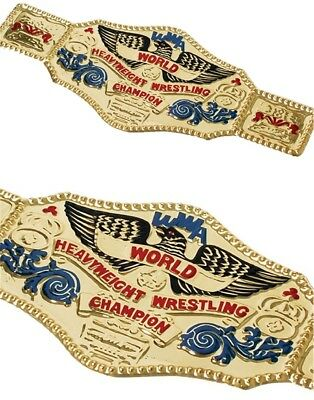 "22.5"" x 10"" World Wrestling Wrestler Championship Gold Belt WWE"