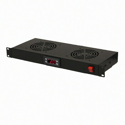 1U AV Server Rack 2 Cooling Fans Rack Mountable IT Audio Video Equipment