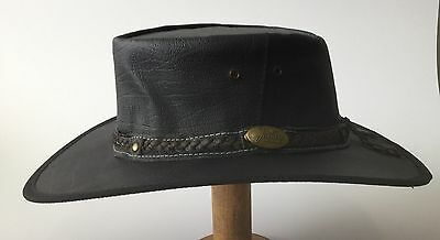 Jacaru water repellent Kangaroo Leather  Best style  Australian made hats Black