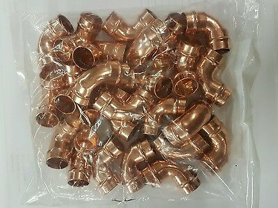 15Mm Solder Ring Elbow Yorkshire 90° Copper Fitting Pack Of 25