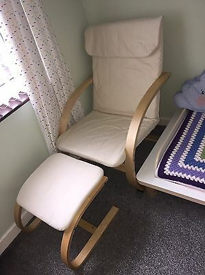 Nursing chair and stool. Excellent Condition.