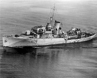 Royal Canadian Navy Corvette Hmcs Buctouche K179 With Stats And History Sheet