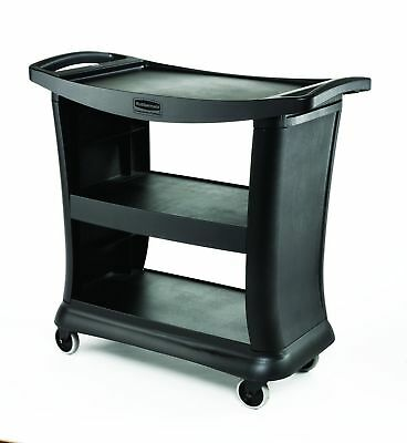 Rubbermaid Commercial Executive Series Utility Cart Black FG9T6800BLA NEW