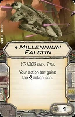 Star Wars X-wing Miniatures Millennium Falcon TITLE upgrade card YT-1300