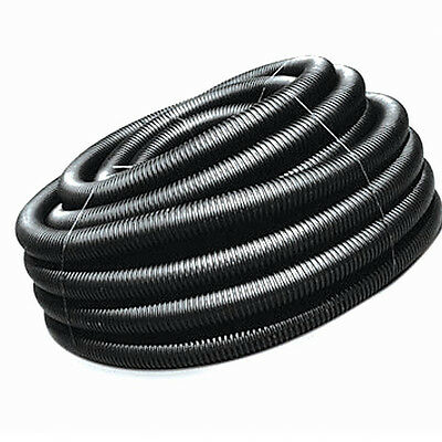 "3"" x 50-Ft Corrugated Flexible HDPE Plastic Solid Pipe Drain Water Landscape NEW"