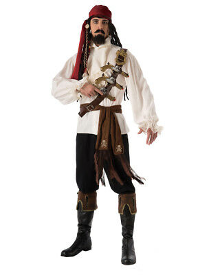 Adult Men's Caribbean Pirate Skull and Cross Bones Sash Costume Accessory