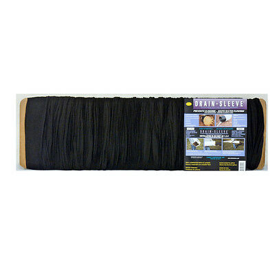 100-ft x 4-in Drain-Sleeve Pipe Sock Polyester Fabric Filter Screen Drainage NEW