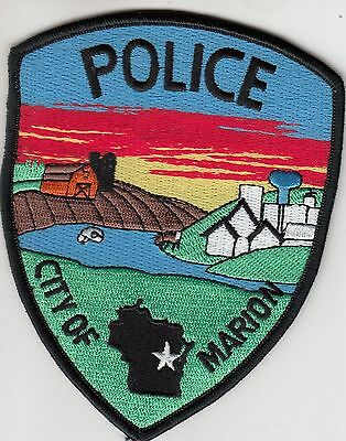 Marion Wisconsin Wi Police Patch (Colorful)