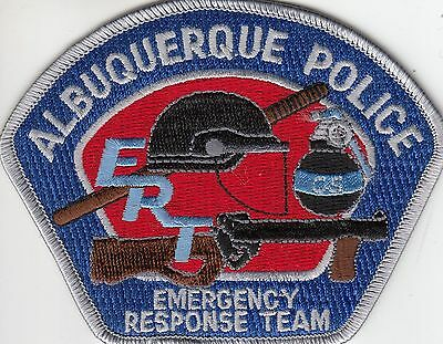 Albuquerque Police Ert Emergency Response Team (Sil/blue)  Patch New Mexico Nm