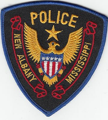 New Albany Mississippi Ms Police Shoulder Patch