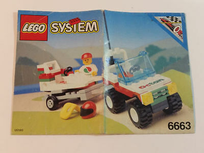 Lego System CITY 6663 Wave Rebel Instruction Manual AS NEW