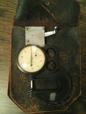 "Federal Dial Thickness Gage Gauge Model 22  .001"" Graduation Micrometer rare"
