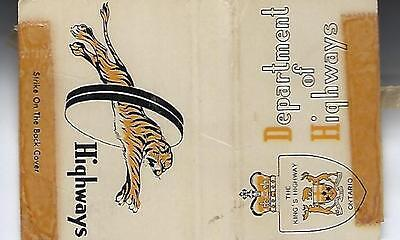 Vintage Ontario Department Of Highways Matchcover Inside Lane Instuctions