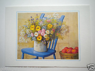 """""""COUNTRY CHARM"""" GREETING CARD ~ Mouth Painted ~ N. R. Litteral ~ #27/2"""