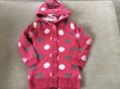 Pumpkin  patch girls button up hooded lined cardigan size 8 brand new