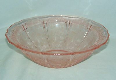 """Jeannette CHERRY BLOSSOM PINK *8 1/2"""" LARGE BERRY BOWL* #2"""