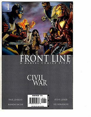 Lot Of 10 Civil War Frontline Marvel Comic Books #1 2 3 4 5 6 7 8 9 10 VF/NM AK3
