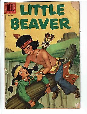 Four Color # 660 GD Dell Comic Book 1955 Little Beaver Indian J89