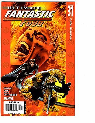 Lot Of 5 Ultimate Fantastic Four Marvel Comic Books # 31 32 33 34 35 Thing AK3