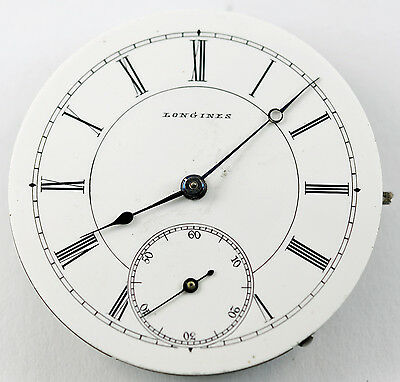Longines Pocket Watch Movement & Dial Size 34Mm