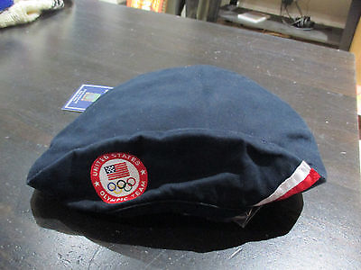 NEW Ralph Lauren Polo USA Olympic Team Beret Hat Cap Blue Pony American RARE