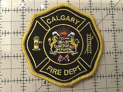 Canada Alberta Patch Calgary Fire Department Yellow #1