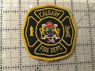 Canada Alberta Patch Calgary Fire Department Yellow #2