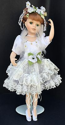 Beautiful Cathay Collection Ballerina Girl Doll Limited to 5000 with Stand 16""