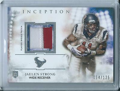 Jaelen Strong 2015 Topps Inception Patch Rc /125