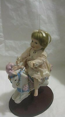 Carousel Kids Sarah Porcelain Doll By Judy Belle For The Danbury Mint New In Box