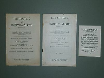 1940's Society Of Individualists Items