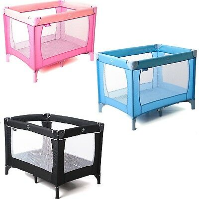 Infant Sleep Tight Travel Cot Carry Bag & Mattress Baby Blue Pink Black Playpen