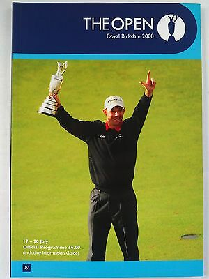 The Open Championship 2008 Official programme at Royal Birkdale Mint condition