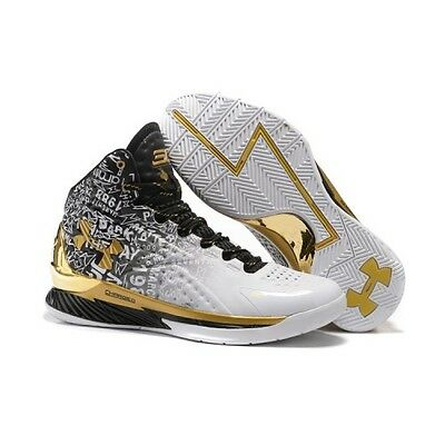Under Armour Curry 1 B2B MVP SIZE 9 uk Championship Back To Black Gold Only Pack
