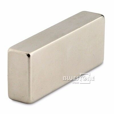 2pc Block Cuboid Rare Earth Neodymium Magnets 50mm x 20mm x 10mm Rate N50