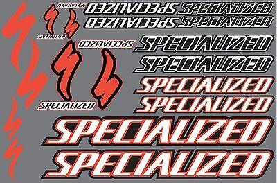Specialized decals stickers sheet (cycling, mtb, bmx, road, bike) PRINTED