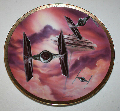 1995 The Hamilton Collection Star Wars Tie Fighters Commemorative Plate #2155D