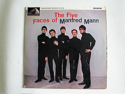 """To Clear - Manfred Mann - The Five Faces Of: 12""""33 Mono Vinyl LP 1964-1st Issue"""