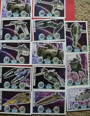Topps Force Attax Star Wars Trading Cards. Blue. 13 Vehicles. Stocking Filler