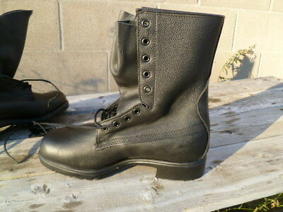 Canadian Forces Mark III Leather Combat Boots Black Size 264/100 GREB NEW